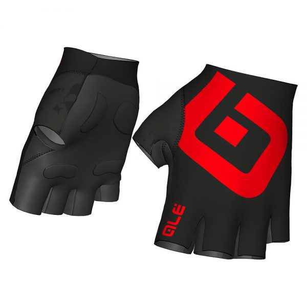 Alé Air Gloves - M - BLACK-RED, BLACK-RED