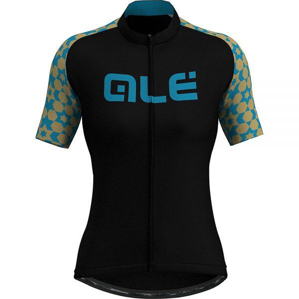 Alé Women's Prime Retro Tile SS Jersey - XL - black-blue, black-blue
