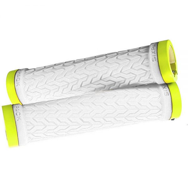 Sixpack Racing S-Trix Lock-On Grips - White-Neon Yellow, White-Neon Yellow