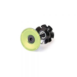 "Sixpack Racing Skywalker Top Cap - Electric Green - 1.1/8"", Electric Green"