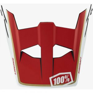 100% Aircraft Replacement Visor - One Size - Red, Red