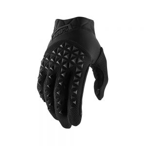 100% Airmatic Gloves - S - Black-Charcoal, Black-Charcoal
