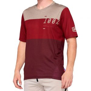100% Airmatic Jersey - S - Maroon-Red, Maroon-Red