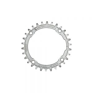 Wolf Tooth 104 BCD Chainring - 4-Bolt - Silver, Silver