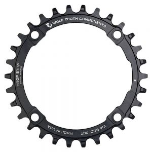 Wolf Tooth 104 BCD Chainring - 4-Bolt - Black, Black
