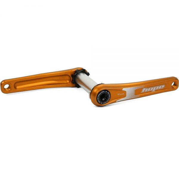 Hope EVO Mountain Bike Crankset (Spiderless) - Orange - 120mm FAT, Orange