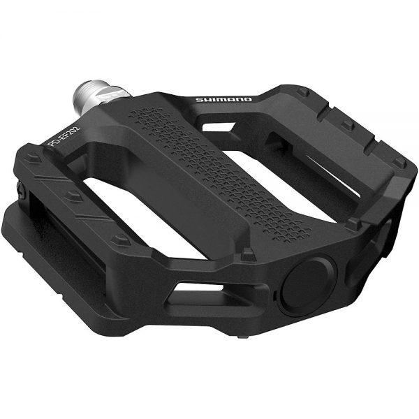 Shimano EF202 MTB Flat Pedals - Black, Black