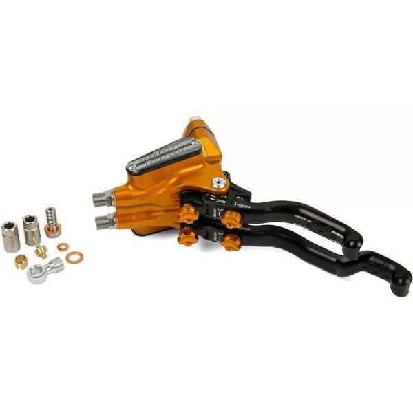 Hope DUO Disc Brake Master Cylinder Complete - Left Hand - Orange, Orange