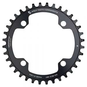 Wolf Tooth Shimano 104 BCD 12 Speed Chainring - Black - 104mm, Black