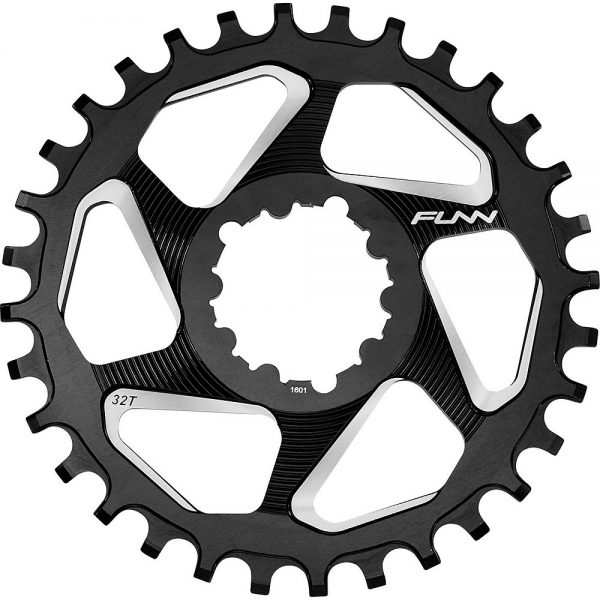 Funn Solo DX Narrow Wide Chainring - Direct Mount - Black, Black