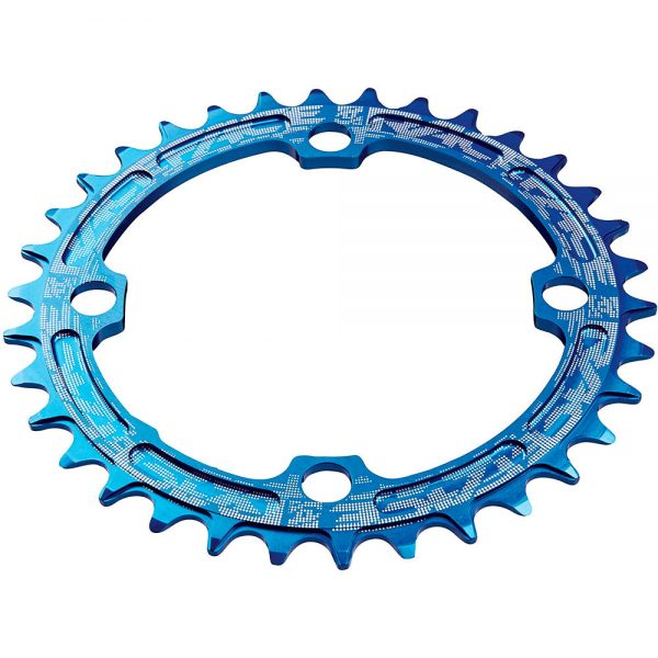 Race Face Narrow Wide MTB Single Chainring - 4-Bolt - Blue, Blue