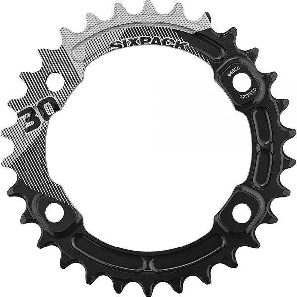 Sixpack Racing K-Ring XT M8000 Narrow-Wide Chainring - Black - 34t, Black