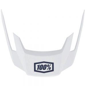 100% Altec Replacement Visor 2019 - L/XL/XXL - White, White
