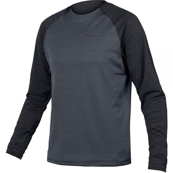 Endura Singletrack Fleece MTB Jersey 2020 - XXL - Black, Black