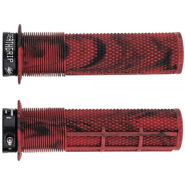 DMR Brendog Death Grip MTB Grips - 135mm - Marble Red, Marble Red