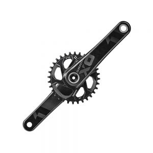 SRAM X01 11sp MTB Chainset - Black - No BB - BB30, Black