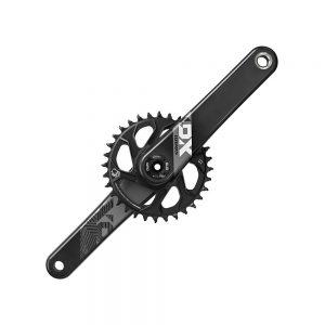 SRAM X01 Eagle 12sp DM MTB Chainset - DUB - Black, Black