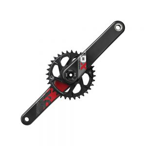 SRAM X01 Eagle 12sp DM MTB Chainset - DUB - Red, Red
