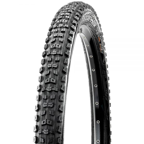 Maxxis Aggressor MTB Wide Trail Tyre (EXO-TR) - Folding Bead - Black, Black