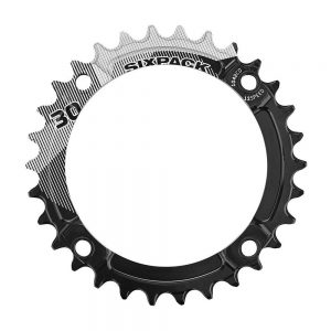 Sixpack Racing K-Ring Narrow-Wide Chainring - Black - 30t, Black