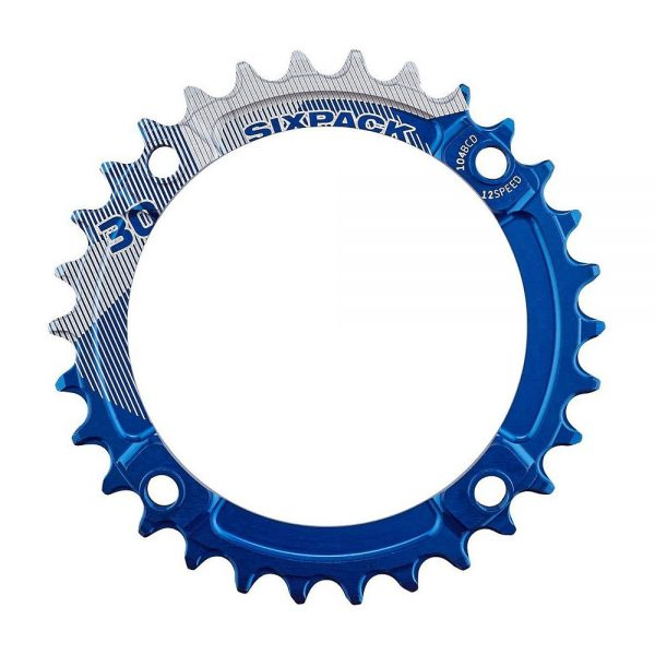 Sixpack Racing K-Ring Narrow-Wide Chainring - Blue - 34t, Blue
