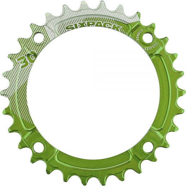 Sixpack Racing K-Ring Narrow-Wide Chainring - Electric Green - 38t, Electric Green