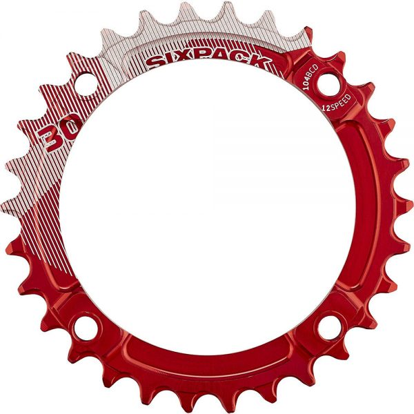 Sixpack Racing K-Ring Narrow-Wide Chainring - Red - 34t, Red