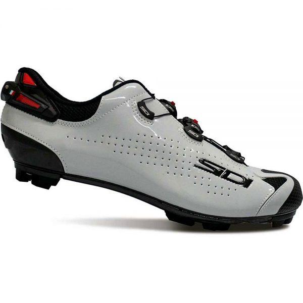 Sidi Tiger 2 SRS Carbon MTB Cycling Shoes SS21 - EU 47.3 - Black-Grey Polished, Black-Grey Polished