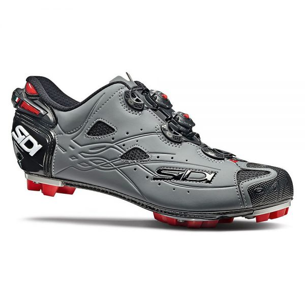 Sidi Tiger SRS Carbon Matt MTB Shoes - EU 40 - Black-Matt Grey, Black-Matt Grey