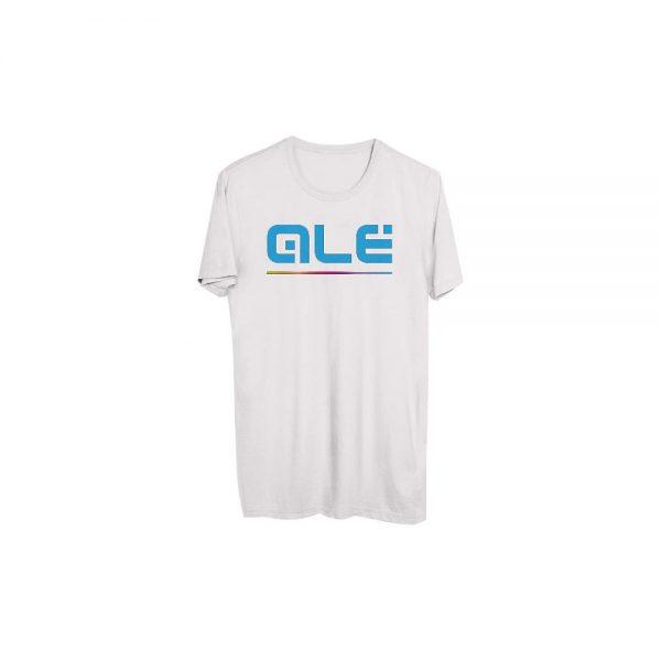 Alé Blue Classic Logo T- Shirt - XL - White, White