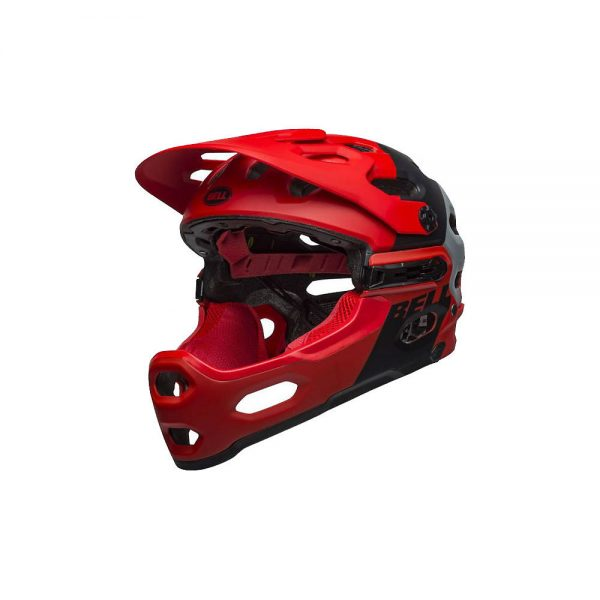 Bell Super 3R MIPS Full Face Helmet 2020 - S - Downdraft Crimson-Black 20, Downdraft Crimson-Black 20