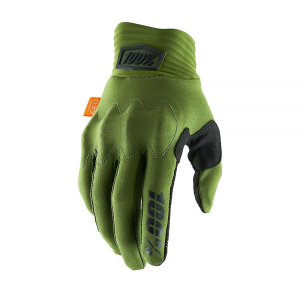 100% Cognito D30 Gloves - S - Army Green-Black, Army Green-Black
