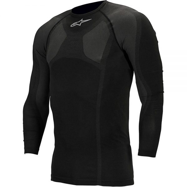 Alpinestars MTB Tech Top Long Sleeve Underwear - XXL/XXXL - Black, Black