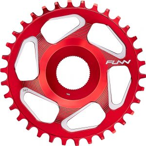Funn Solo ES Narrow Wide Chainring - Direct Mount - Red, Red
