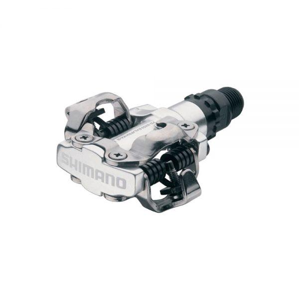 Shimano M520 SPD MTB Pedals - Silver, Silver