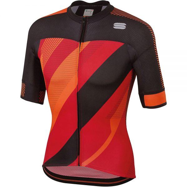Sportful Bodyfit Pro 2.0 X Jersey - XXL - Red-orangeSDR-Black, Red-orangeSDR-Black