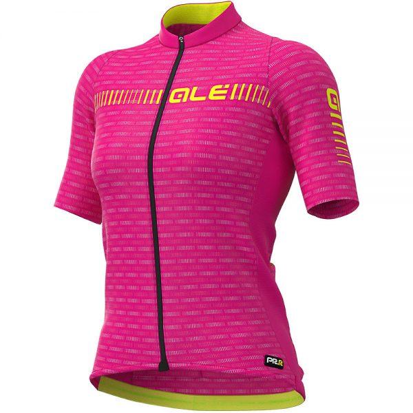 Alé Women's Graphics PRR Green Road Jersey - M - Cyclamen-Fluro Yellow, Cyclamen-Fluro Yellow
