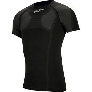 Alpinestars MTB Tech Top Short Sleeve Underwear - XXL/XXXL - Black, Black