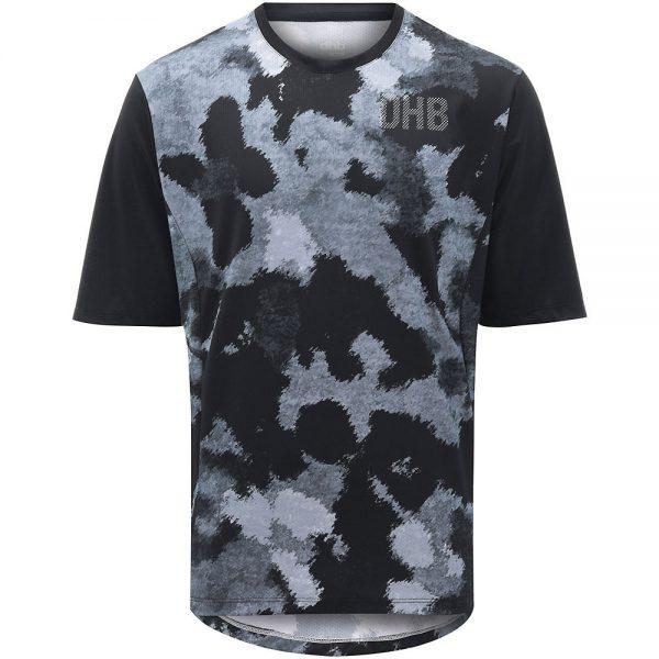 dhb MTB Trail Short Sleeve Jersey - Camo - L - Black-Grey Camo, Black-Grey Camo