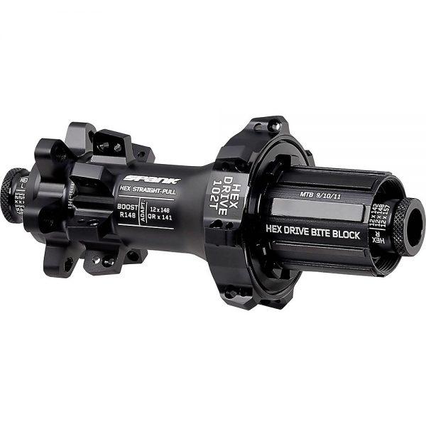 Spank Hex Straightpull Boost Rear MTB Hub - 12 x 148mm - Black, Black