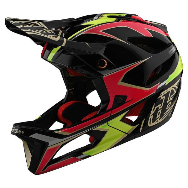 Troy Lee Designs Stage Mips Helmet (Ropo) - XL/XXL - Ropo - Pink-Yellow, Ropo - Pink-Yellow