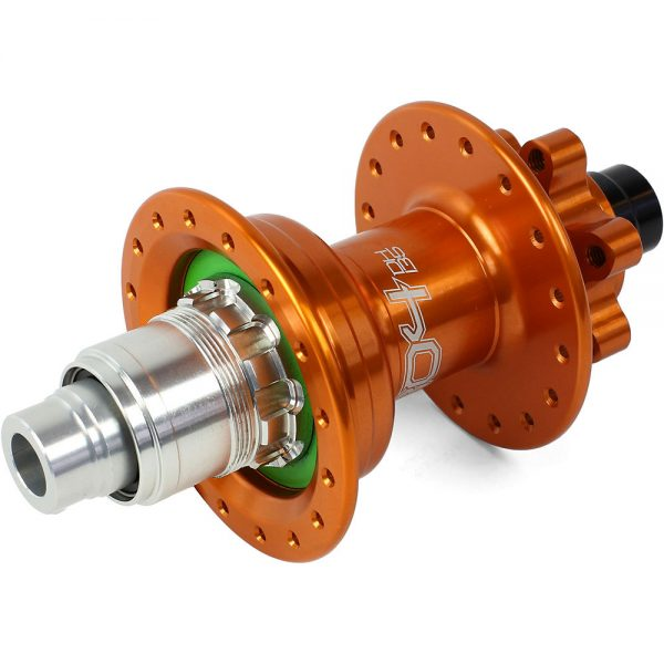 Hope Pro 4 DH MTB Rear Hub - 32h - 150mm x 12mm Axle - Orange, Orange