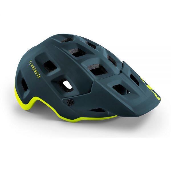 MET Terranova MTB Helmet (MIPS) 2020 - L - Blue-Lime, Blue-Lime