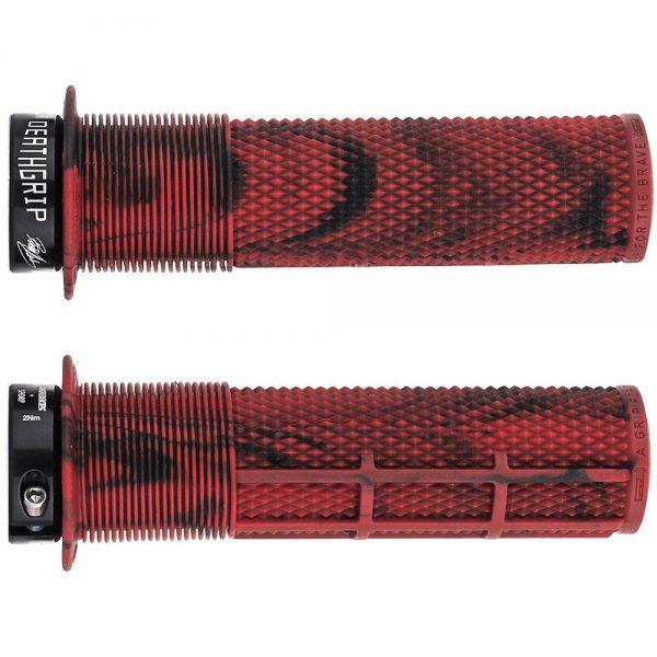 DMR Brendog Death Grip MTB Grips - 135mm - Marble Red, Marble Red