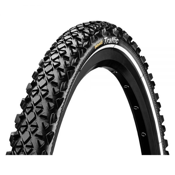 Continental Traffic II MTB Tyre - Wire Bead - Black - Reflective, Black - Reflective