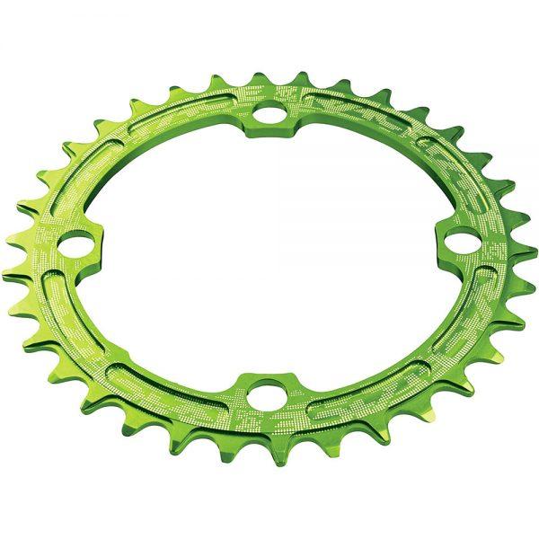 Race Face Narrow Wide MTB Single Chainring - 4-Bolt - Green, Green