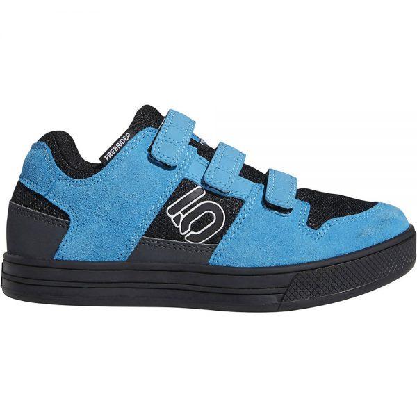 Five Ten Freerider Kid's VCS MTB Shoes - Kids UK 12 - Black-White-Cyan, Black-White-Cyan