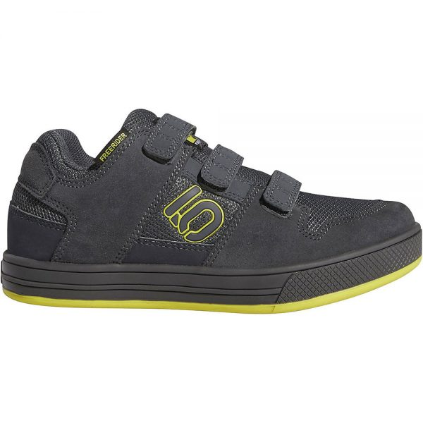 Five Ten Freerider Kid's VCS MTB Shoes - Kids UK 12 - Grey-Yellow-Black, Grey-Yellow-Black