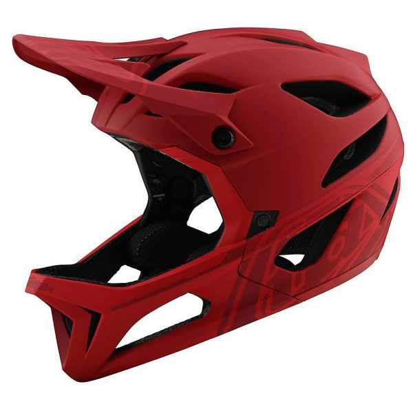 Troy Lee Designs Stage Mips Helmet (Stealth) - M/L - Stealth - Red, Stealth - Red