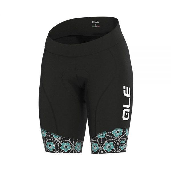 Alé Women's PRS Garda Shorts - XXXL - Black-Turquoise, Black-Turquoise